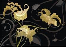 орхидеи золота Стоковые Изображения