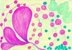 Орхидеи и груши иллюстрация вектора