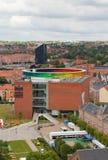 ОРХУС, ДАНИЯ - 7-ОЕ ИЮНЯ 2014: Museeum AROS в Орхусе, Дании Стоковое Фото