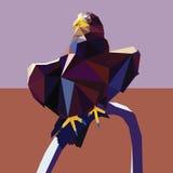 Орла дизайн низко поли Стоковое Фото