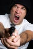 осадка человека пушки стоковое фото