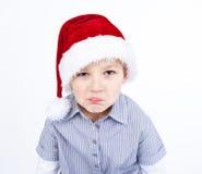 осаженные выставки выражения мальчика милые Стоковая Фотография RF