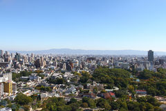 Осака, городской пейзаж Японии Стоковое Изображение