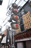 ОСАКА - 23-ЬЕ ОКТЯБРЯ: Улица Dotonbori в Осака, Японии Стоковые Изображения RF
