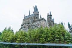 Осака, Япония - 21-ое ноября 2016: Мир Wizarding Гарри Поттера Стоковое Фото