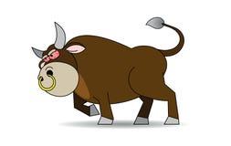 Осатанелый бык Иллюстрация вектора