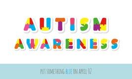 осведомленность аутизма Бумага писем головоломки отрезанная вне бесплатная иллюстрация