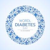 Осведомленность дня диабета мира с голубым дизайном вектора знака креста круга бесплатная иллюстрация