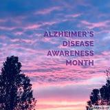 Осведомленность осведомленности заболеванием Alzheimer's Стоковое Изображение