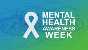 Осведомленность психических здоровий ежегодная кампания выделяя осведомленность психических здоровий иллюстрация вектора