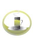 Освежать логотипа чашки зеленого чая бесплатная иллюстрация