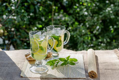 Освежающий напиток с лимоном и имбирем Стоковое Изображение RF