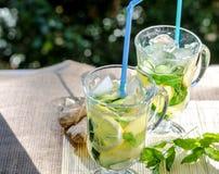 Освежающий напиток с лимоном и имбирем Стоковые Фотографии RF