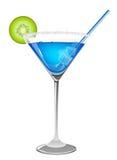 Освежая голубой коктеил Стоковое Изображение