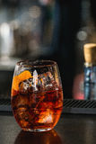 Освежая красное coctail с апельсином Стоковое Изображение
