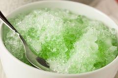 Освежая домодельный побритый лед стоковая фотография rf
