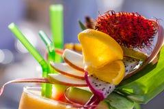 Освежая питье лета с арбузом стоковое фото rf