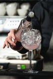 Освежая рубиновое красное coctail при плодоовощ виноградины изолированный на баре b Стоковая Фотография RF