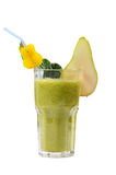 Освежая smoothie груши изолированный на белизне Стоковые Фото