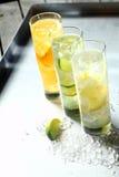3 освежая tangy коктеиля лета цитруса Стоковые Фото