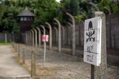 Освенцим - концентрационный лагерь Стоковая Фотография RF