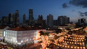 Осветите вверх улицы Чайна-тауна акции видеоматериалы