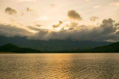 осветите заход солнца Стоковое Фото