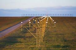 освещает взлётно-посадочная дорожку Стоковая Фотография RF