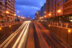 освещает движение ночи Стоковое фото RF