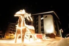 освещает напольный северный оленя Стоковые Фотографии RF