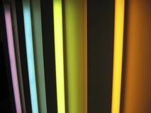 освещает неоновую радугу Стоковые Фото