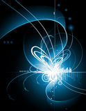 освещает неоновый вектор Стоковые Фото