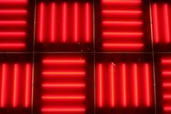 освещает неоновый красный цвет стоковое фото rf