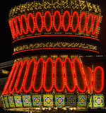 освещает неон Стоковое Изображение RF