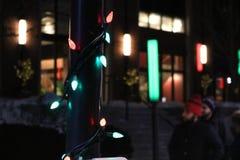 освещает Новый Год стоковые фотографии rf