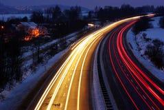 освещает ночу вне Стоковое Фото