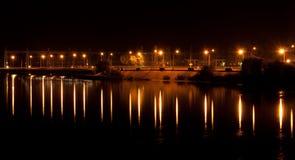 освещает ночу Стоковое Изображение