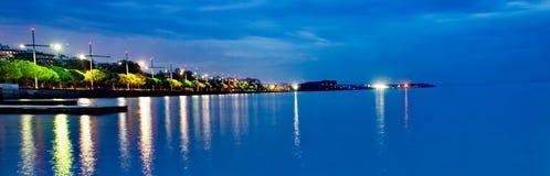 Освещает отражение в море Стоковое Изображение