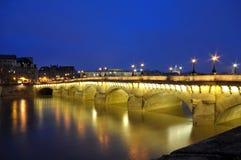 освещает перемет реки paris светя Стоковые Изображения RF