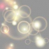 Освещает прозрачный вектор Стоковое фото RF