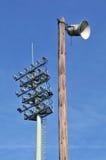 освещает стадион громкоговорителя старый Стоковые Изображения