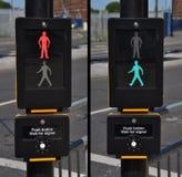 освещает движение пешеходов Стоковое Изображение RF