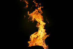 Освещать вверх по огню газа внутри воздушного шара Стоковые Фото