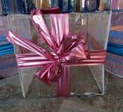 Освещать украшения праздника подарочной коробки стоковая фотография
