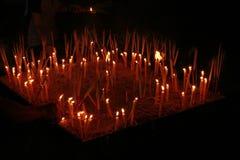 Освещать черные задние землю и nighttime на городе Таиланда Стоковое Фото