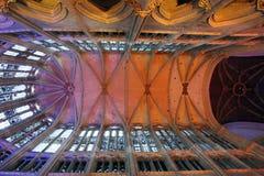 Освещение в соборе на Бове Франции стоковая фотография rf