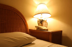 освещение кровати Стоковые Изображения RF