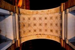 Освещение ночи базилики, Esztergom Венгрия Стоковая Фотография RF