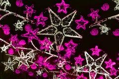 Освещение рождества на улицах Стоковая Фотография RF