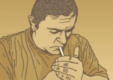 освещение сигареты Стоковое фото RF
